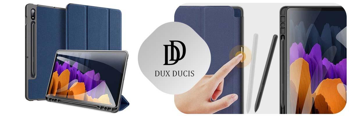 Etui Dux Ducis do Samsung Galaxy Tab S7 Plus 12.4 T970/T976 Granatowe + Folia + Rysik