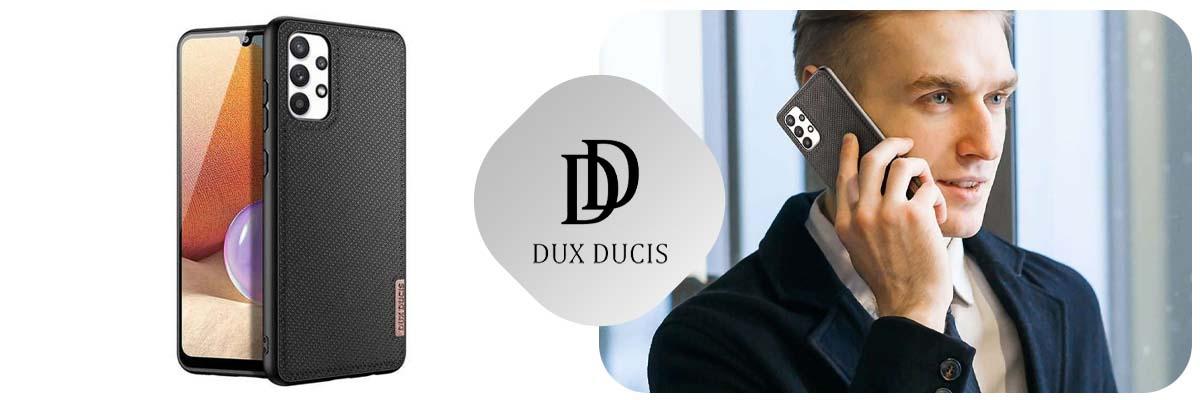 Etui ochronne na telefon Dux Ducis Fino do Samsung Galaxy A32 4G Czarne + Szkło