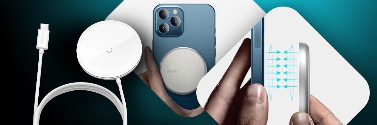 Magnetyczna ładowarka indukcyjna Qi Baseus do iPhone 12 15W White