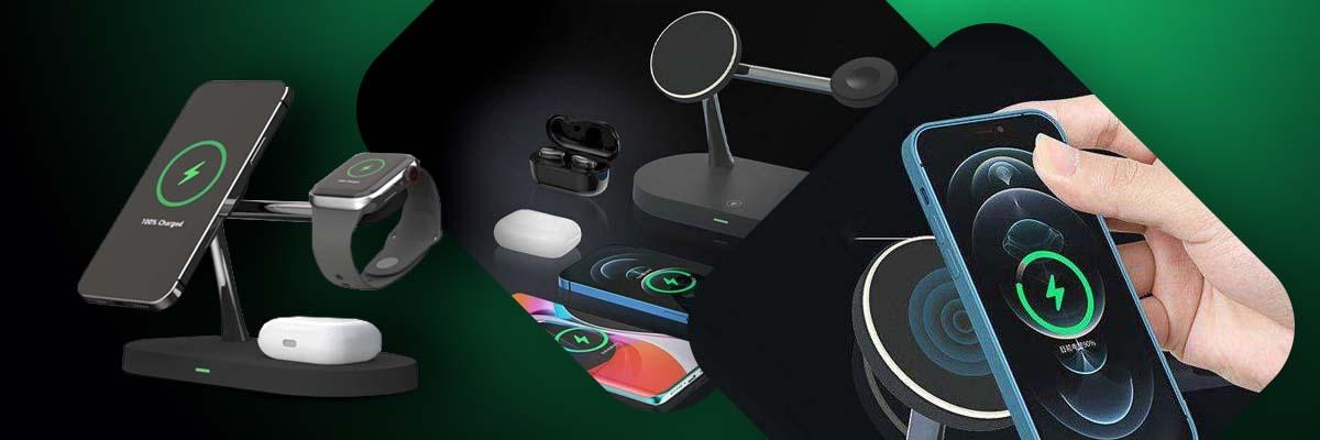 Ładowarka indukcyjna Qi MagSafe 3w1 do iPhone/AirPods/Watch Black