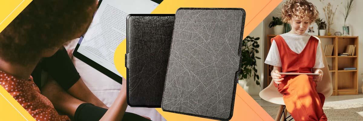 Etui Alogy Leather Smart Case Kindle Paperwhite 1/2/3 Czarne