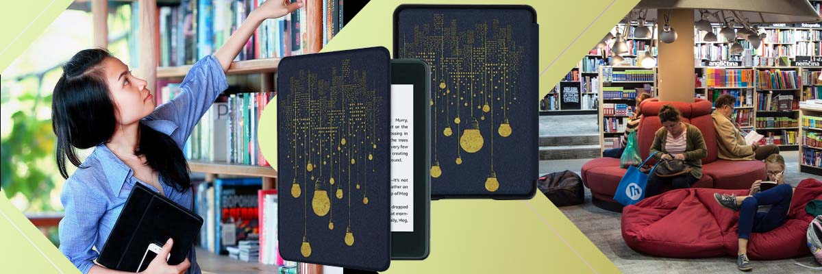Etui Alogy Smart Case do Kindle Paperwhite 4 2018/2019 Żarówki