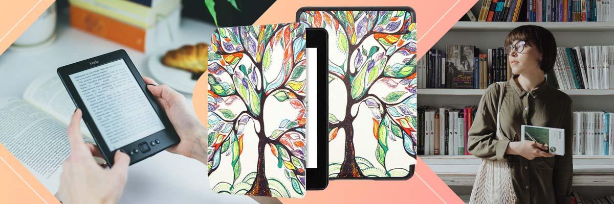 Etui Alogy Smart Case do Kindle Paperwhite 4 2018/2019 Kolorowe drzewko