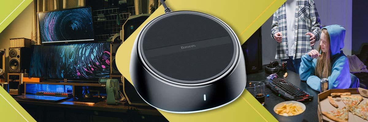 Ładowarka sieciowa USA indukcyjna Qi Baseus 2w1 3xUSB 3.5A 25W Czarna