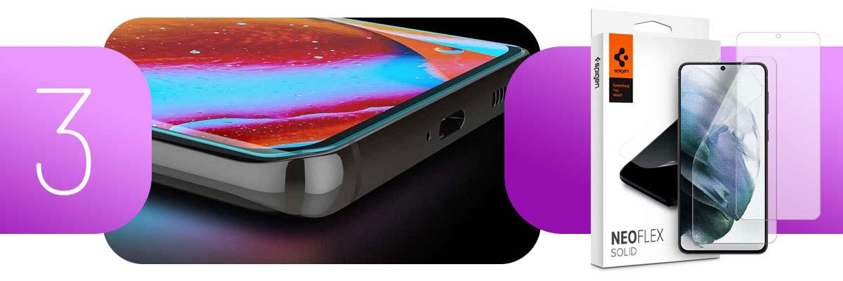 2x Folia hydrożelowa Spigen Neo Flex Solid Case Friendly do Galaxy S21