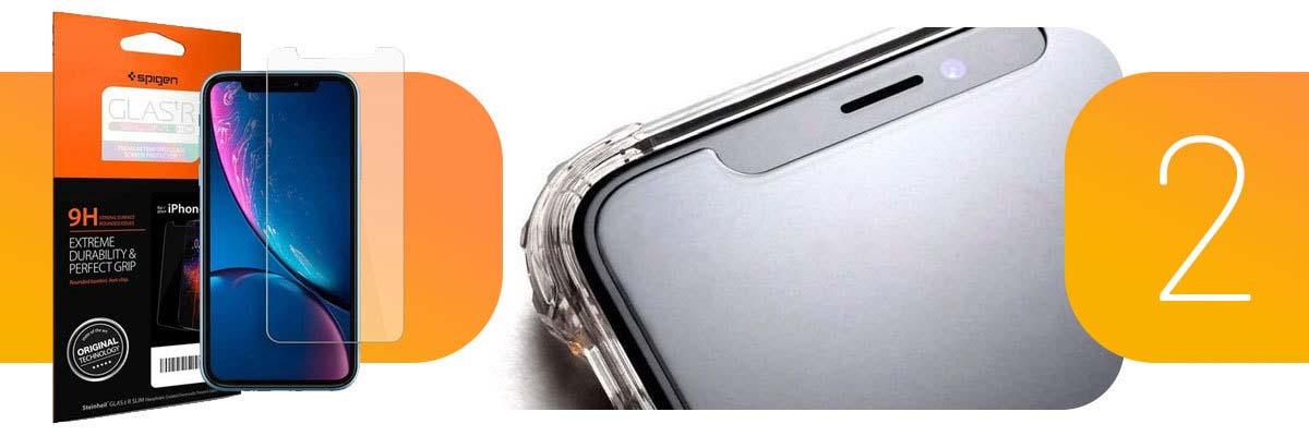 Spigen szkło hartowane Apple iPhone XR/ 11 Glas.tR Slim HD