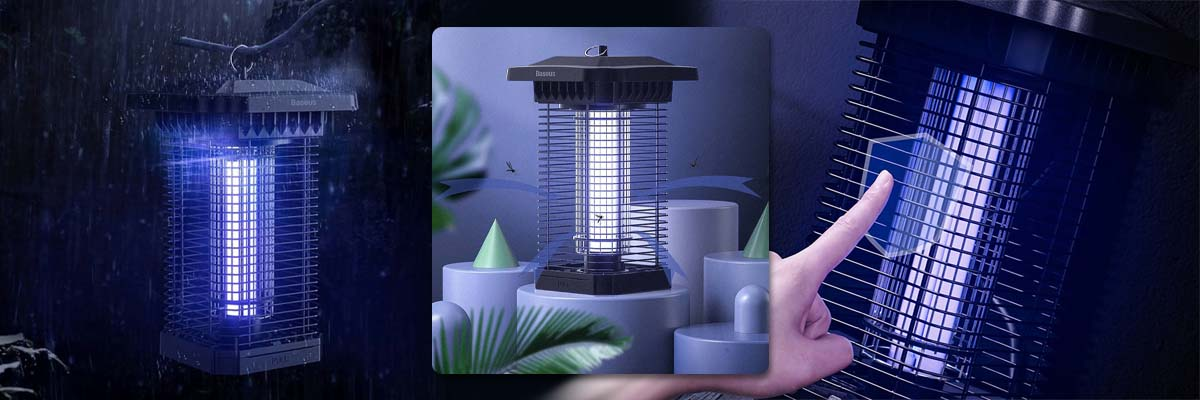 Baseus Pavilion Lampa owadobójcza elektryczna UV 18W na komary owady