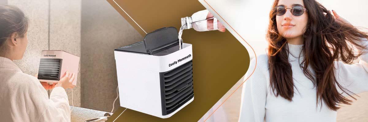 Klimatyzator przenośny domowy nawilżacz Coolly Mammoth Air Cooler led