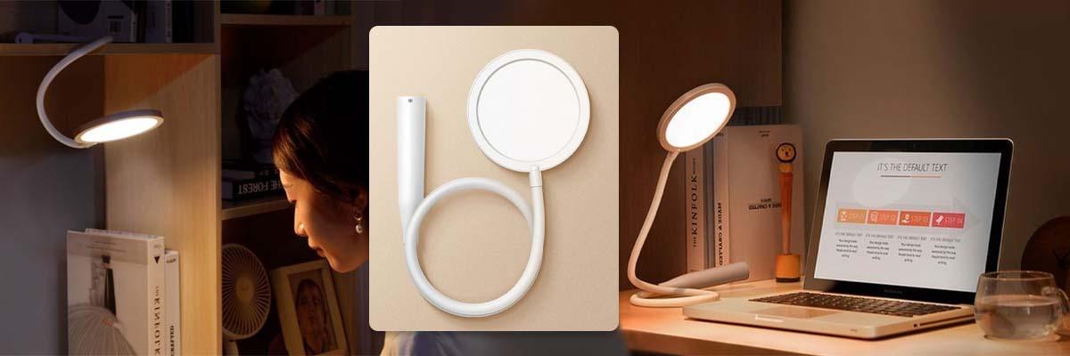 Elastyczna lampka na biurko Baseus bezprzewodowa LED z regulacją światła