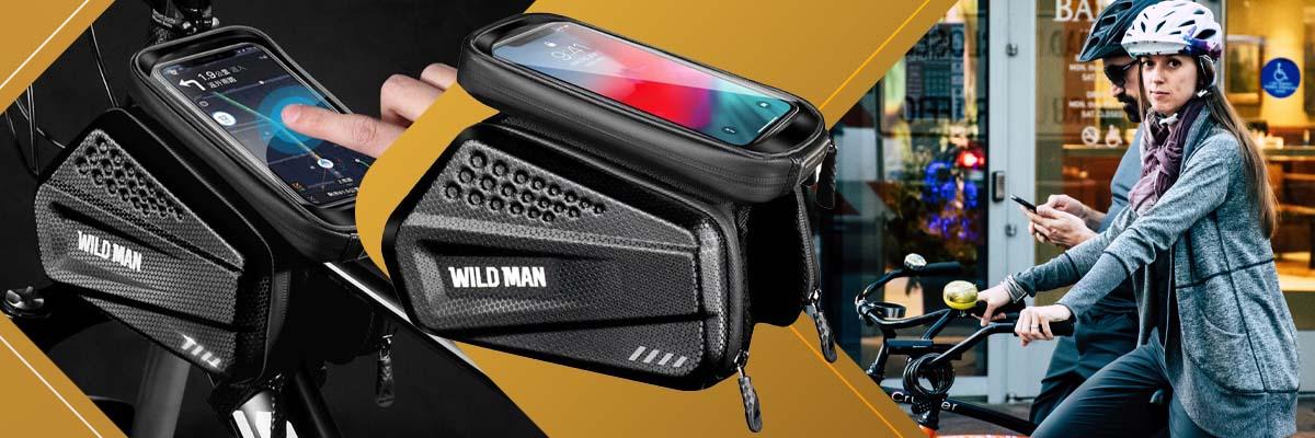 Etui torba sakwa na rower uchwyt rowerowy Wildman Bag EX 1l Czarny