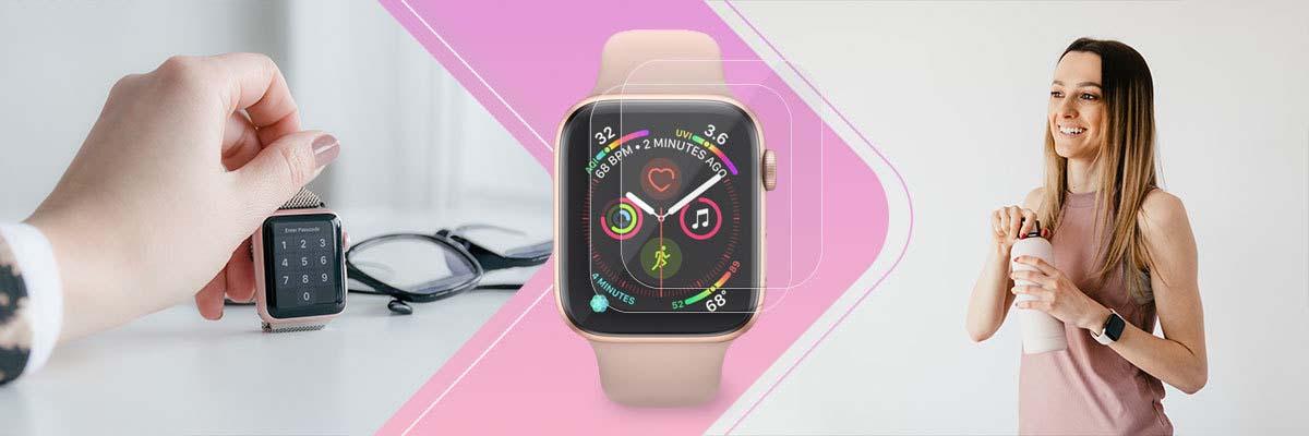Folia antybakteryjna x3 Ringke Easy Flex do Apple Watch 4/5/6/SE 44mm