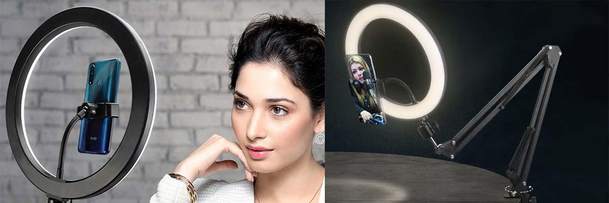 Lampa pierścieniowa LED ze statywem do makijażu Alogy