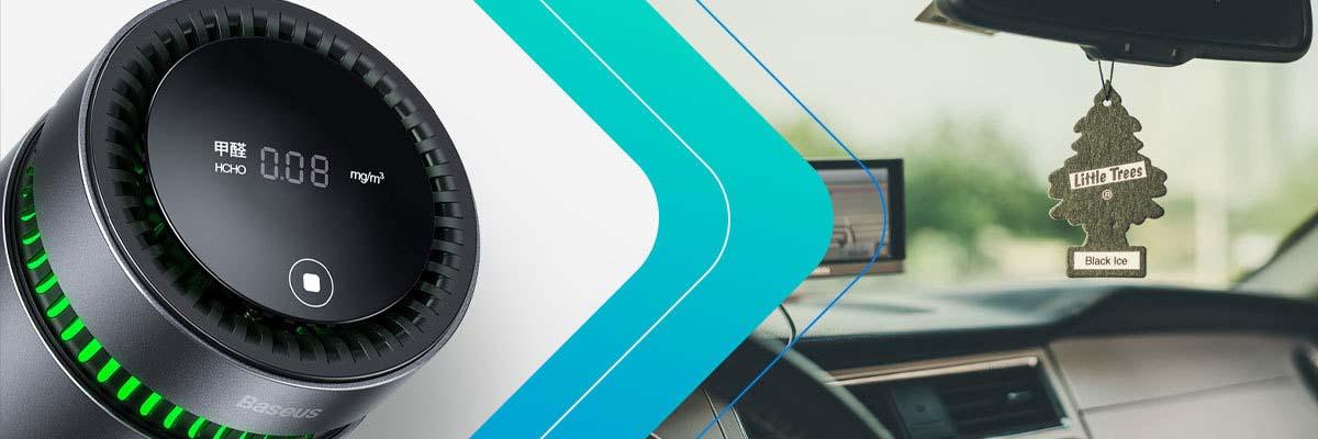 Samochodowy oczyszczacz powietrza Baseus ze wskaźnikiem formaldehydu