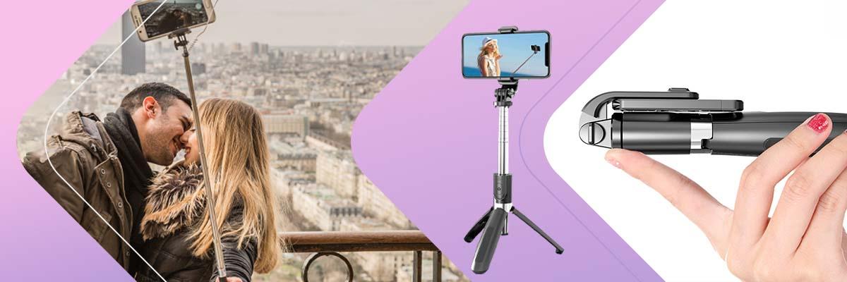Selfie stick Alogy Tripod Uchwyt do telefonu aparatu GoPro Bluetooth