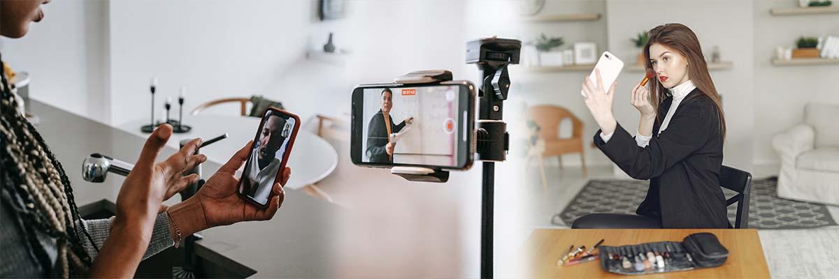 nagrywanie live streaming makeup makeover live stabilizator