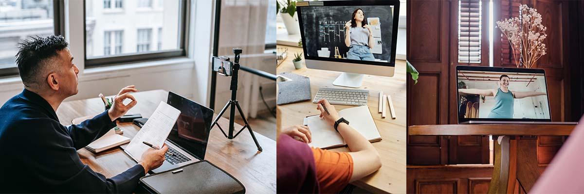 nauka online zdalne lekcje live streaming nadawanie na zywo
