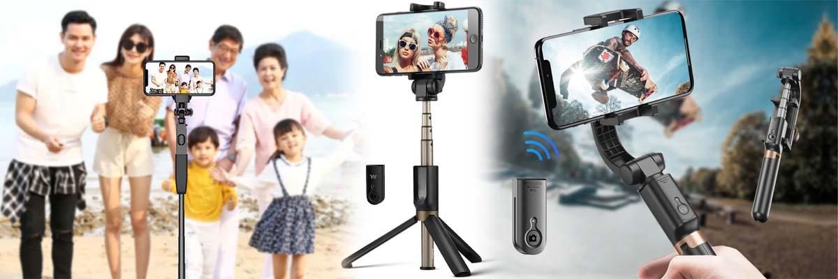 nagrywanie na zywo stabilizator obrazu selfie stick