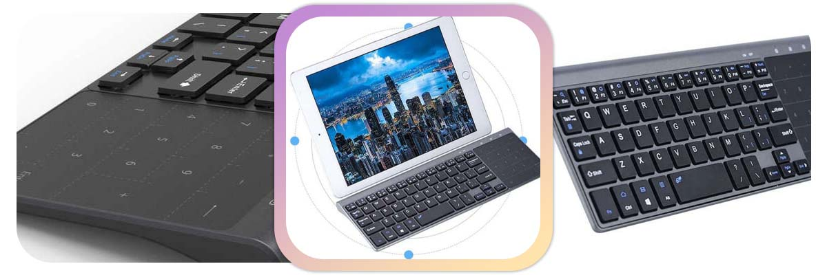 Klawiatura do komputera Bezprzewodowa Alogy touchpad Android/Win Szara