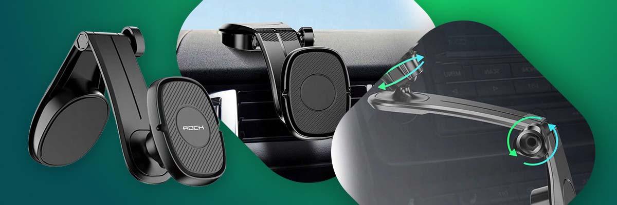 Uchwyt samochodowy Rock Magnetyczny 360 do deski rozdzielczej czarny