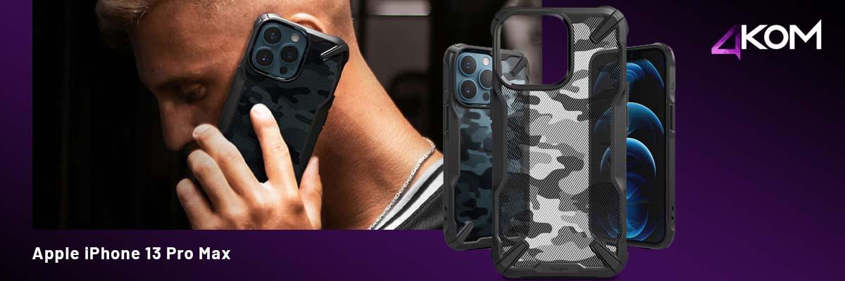 Etui obudowa Ringke Fusion X do Apple iPhone 13 Pro Max Camo Moro Black