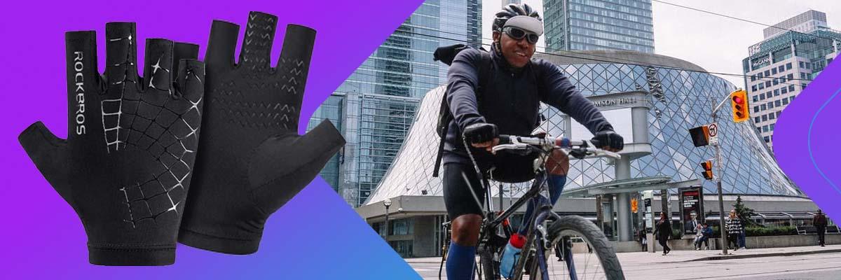 Rękawiczki rowerowe L unisex RockBros rękawice na rower bez palców oddychające