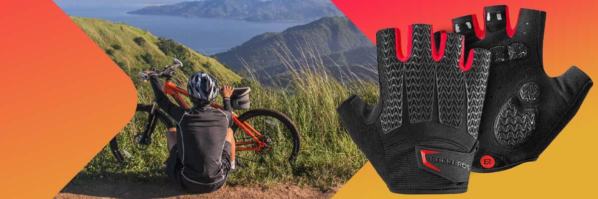 Rękawiczki rowerowe na rower bez palców XL RockBros S169BR-XL czarne