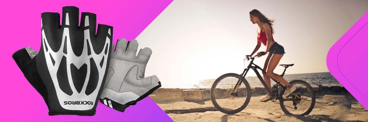 Rękawiczki rowerowe na rower bez palców XL RockBros S227BK-XL