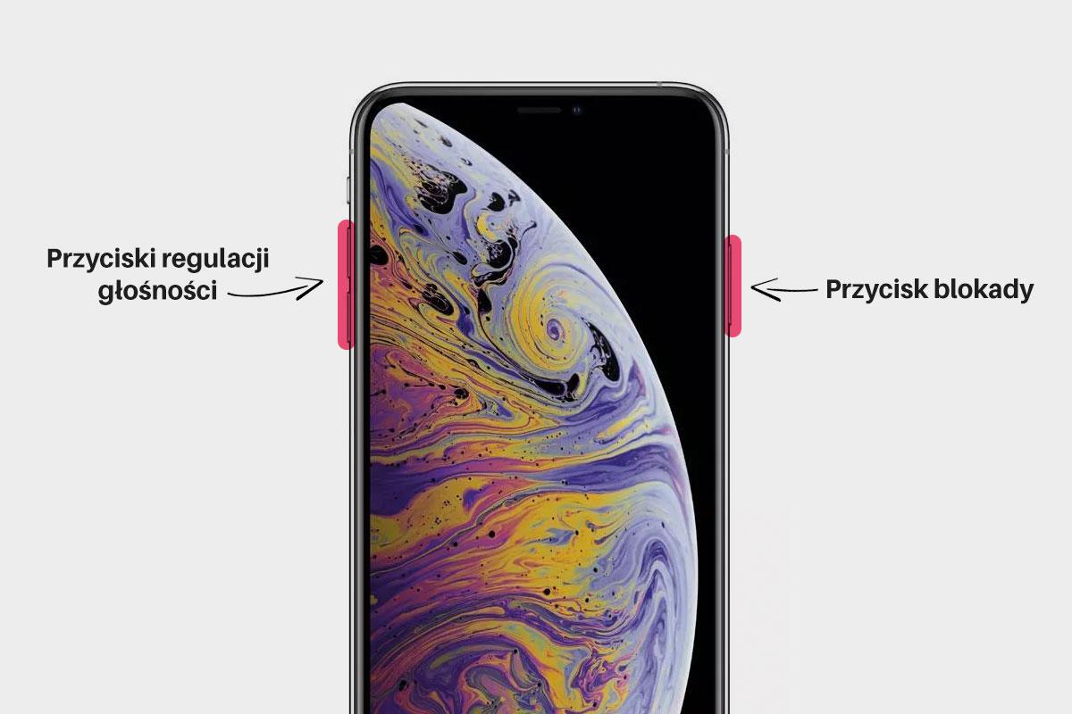 Wyłączanie iPhone XS