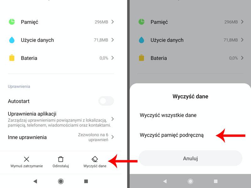 Wylogowanie z Messengera przez smartfona