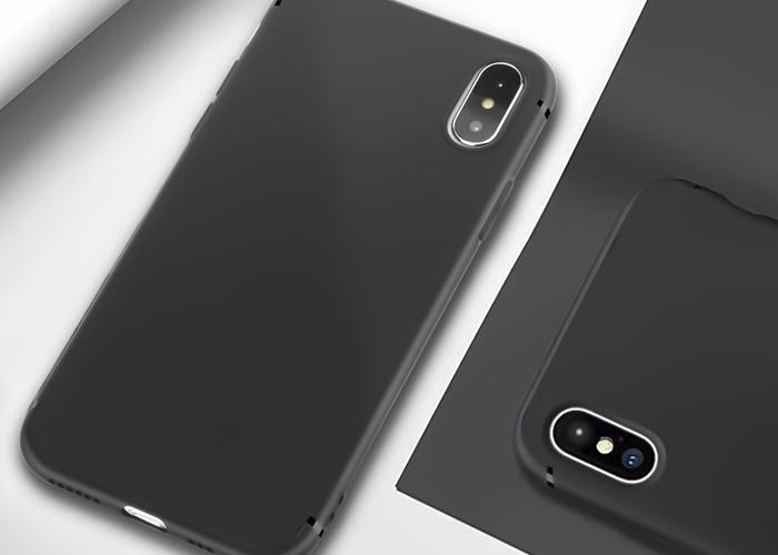 Etui Alogy silikon czarny slim case apple iphone x