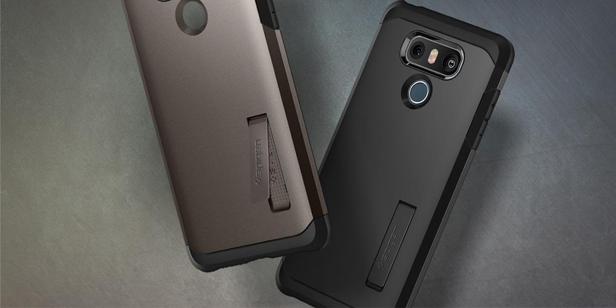 competitive price df765 a7b8a Etui Spigen TOUGH ARMOR™ LG G6 black+ szkło