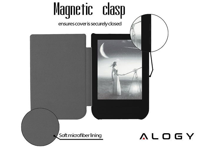 ALOGY ULTRA SLIM DO POCKETBOOK TOUCH HD (PB 631) CZARNE (29438)