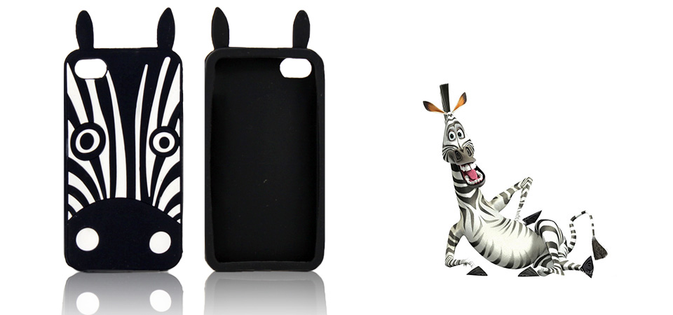 Etui 3D Zebra Marvin iPhone 4 4S
