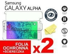 2x Folia ochronna na ekran do Samsung Galaxy Alpha