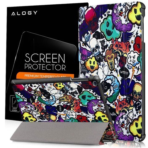 Etui Alogy Book Cover do Galaxy Tab A 10.1 2019 Comic Cloud + Szkło 9H