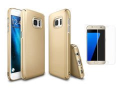 Etui Rearth Ringke Slim Samsung Galaxy S7 Royal Gold + Szkło 3D