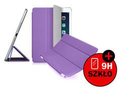 Etui Smart Cover do iPad Mini 3 2 Fioletowe + SZKŁO