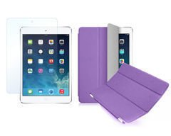 Etui Smart Cover do iPad Mini 4 Fioletowe + SZKŁO