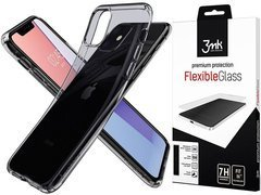 Etui Spigen Liquid Crystal do Apple iPhone 11 Space Crystal + szkło 3mk
