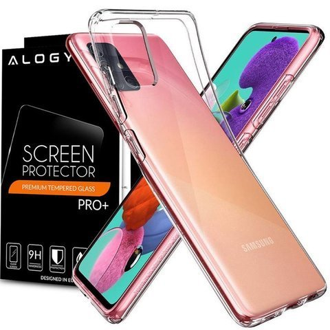 Etui Spigen Liquid Crystal do Samsung Galaxy A71 Crystal Clear + Szkło Alogy