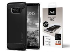 Etui Spigen Rugged Armor Samsung Galaxy S8 Black Folia Arc 3mk