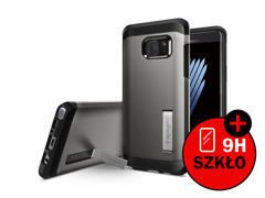Etui Spigen Tough Armor Samsung Galaxy Note 7 Gunmetal + Szkło