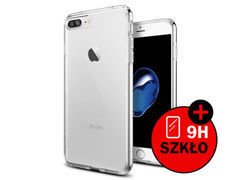 Etui Spigen Ultra Hybrid iPhone 7/8 Plus Crystal Clear + Szkło