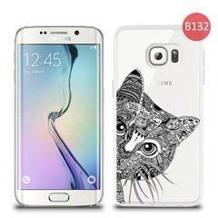 Etui silikonowe z nadrukiem Samsung Galaxy S6 Edge Kot rysowany 5a7b0c7da211
