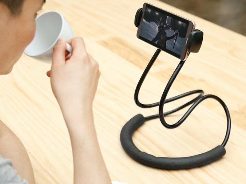 Baseus Neck elastyczny Stojak Uchwyt na szyję do telefonu i tabletu