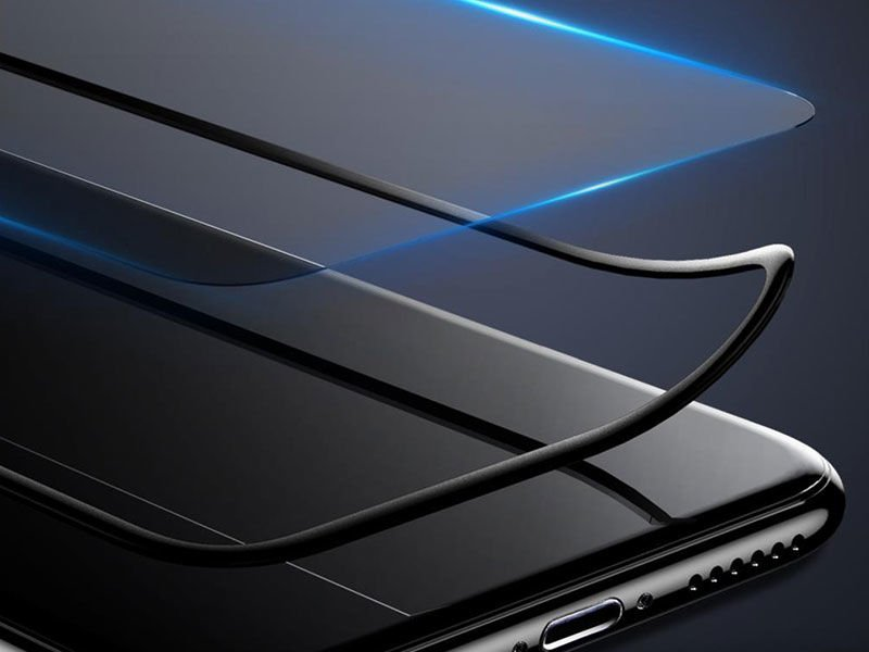 Baseus Szkło silk Apple iPhone X z elastyczną ramką