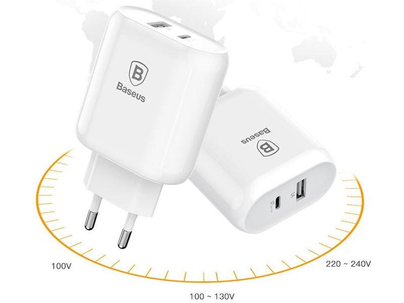 Baseus ładowarka sieciowa Bojure 32W QC USB-C lightning