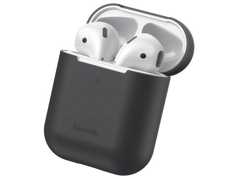 Baseus silikonowe etui na słuchawki Apple AirPods 12 case black