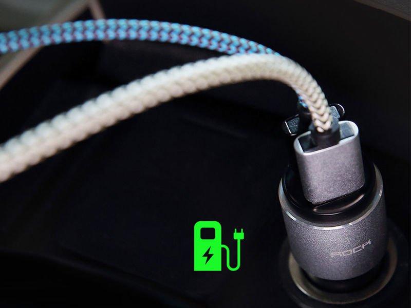 Rock Transmiter ładowarka samochodowa Bluetooth FM