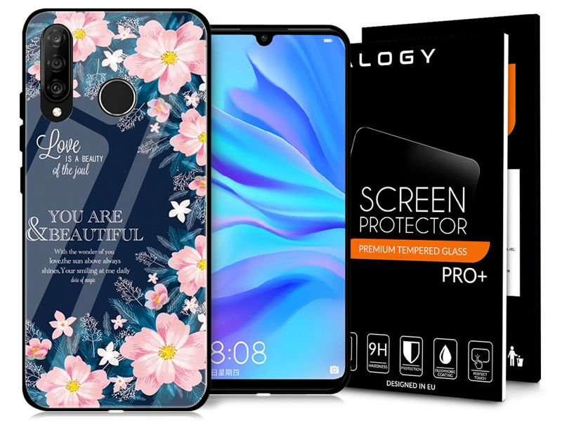 Etui Alogy Glass Armor Case Do Huawei P30 Lite Kwiaty Szkło 4kom Pl